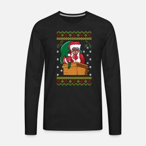 African American Santa Ugly Christmas Tote Bag Spreadshirt