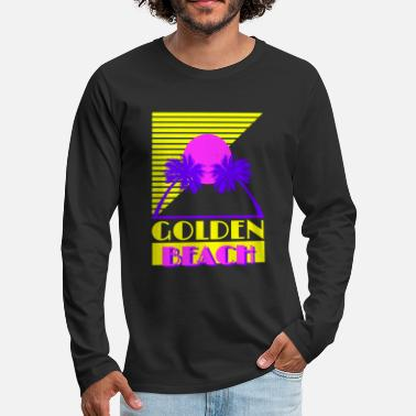 Golden Beach 80s - Men's Premium Longsleeve Shirt