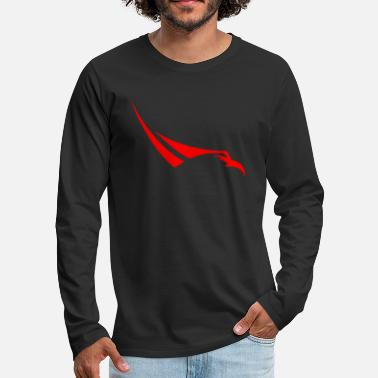 Falcon SpaceX Falcon Heavy logo - Men's Premium Long Sleeve T-Shirt