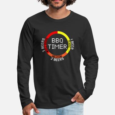 Belly BBQ Timer Barbecue Grill Meat Pork Beef Beer Gift - Men's Premium Long Sleeve T-Shirt