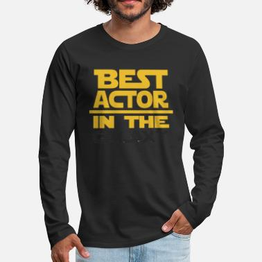 Superpower Best Actor In The Galaxy - Men's Premium Long Sleeve T-Shirt
