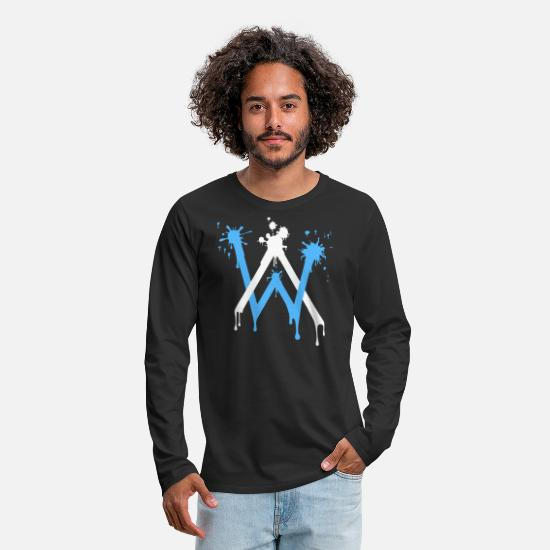 Alan Long-Sleeve Shirts - ALAN WALKER - Men's Premium Longsleeve Shirt black