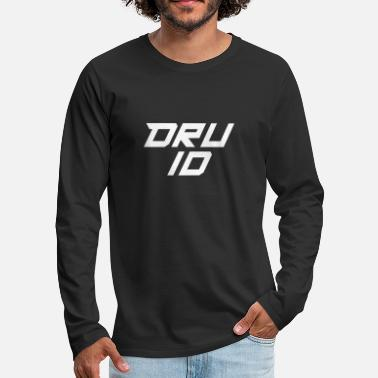 Druid Minimalist Druid Character Class Tabletop RPG - Men's Premium Long Sleeve T-Shirt