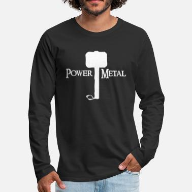 Thor Power Metal with Hammer - Men's Premium Long Sleeve T-Shirt