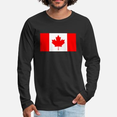 Canada Flag Canada country flag love my land patriot - Men's Premium Long Sleeve T-Shirt