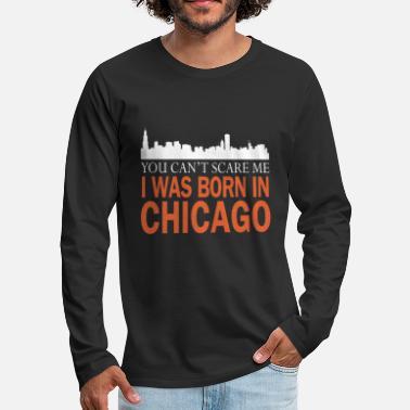 Born and Raised Illinois State Flag Mens Sweatshirt