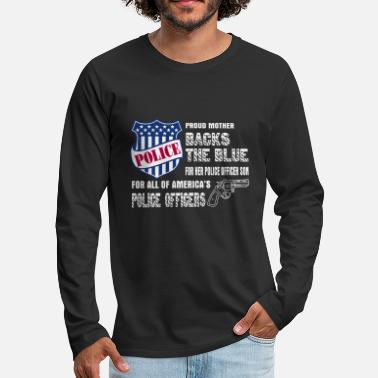 Police Officer Did It Police Officer - Police Officers Shirt - Gift Fo - Men's Premium Longsleeve Shirt