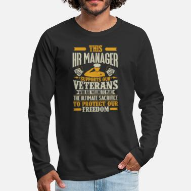 Military HR Manager Vetran Protect Supports - Men's Premium Long Sleeve T-Shirt