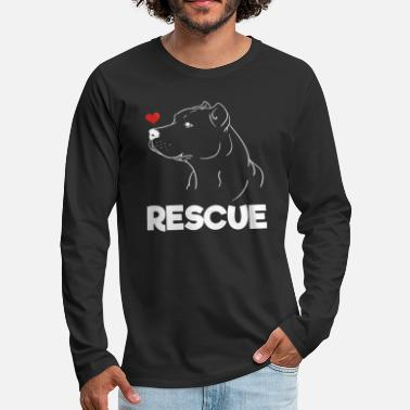 Rescue Rescue Pitbulls - Men's Premium Longsleeve Shirt
