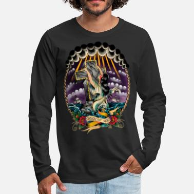 Religious Rock Of Ages. - Men's Premium Longsleeve Shirt