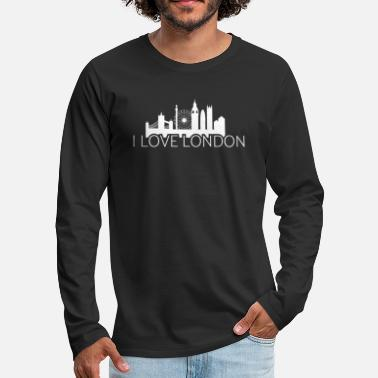 Big Ben I Love London England Skyline Big Ben Brexit Union - Men's Premium Longsleeve Shirt