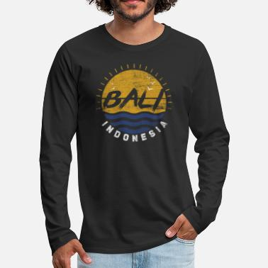 Indonesia Bali Indonesia Island Beach Surfing Kuta Ubud Gift - Men's Premium Long Sleeve T-Shirt