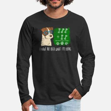 What No idea dog I Funny saying school - Men's Premium Longsleeve Shirt