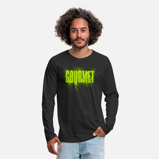 Gourmet Long-Sleeve Shirts - Gourmet - Men's Premium Longsleeve Shirt black