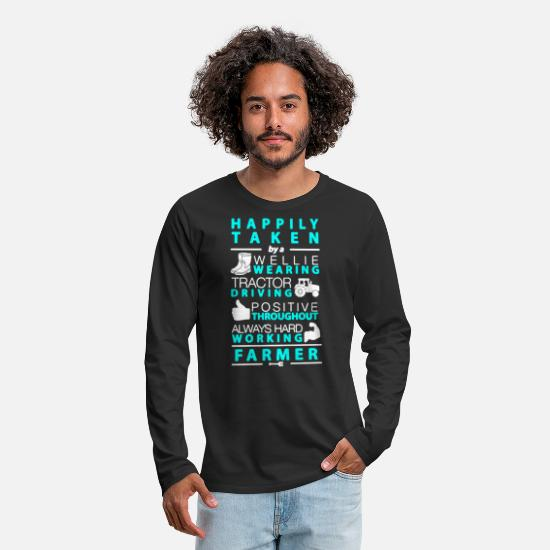 Work Long-Sleeve Shirts - Farmer Tee Shirt - Men's Premium Longsleeve Shirt black
