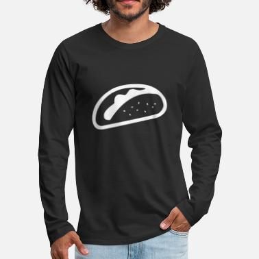 Minimalist Taco - Men's Premium Long Sleeve T-Shirt