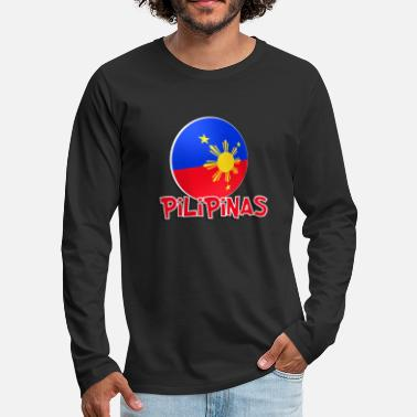 Red White And Blue Blue White Red More Fun Philippines 1 - Men's Premium Long Sleeve T-Shirt