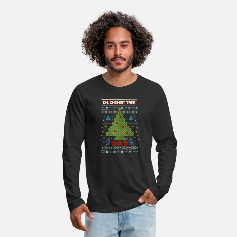 Oh Chemist Tree Funny Ugly Christmas Sweater Mens Premium