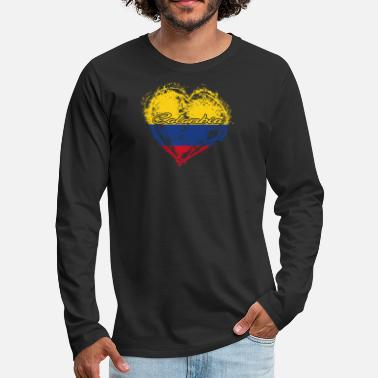 Colombia Roots HOME ROOTS COUNTRY GIFT LOVE Colombia - Men's Premium Longsleeve Shirt