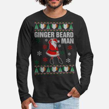Ginger Ginger Beard Irish Man - Men's Premium Long Sleeve T-Shirt