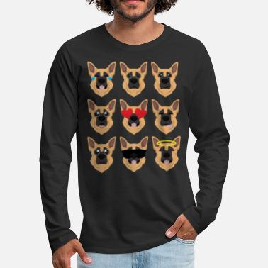 Emoji Shepherd - Men's Premium Long Sleeve T-Shirt