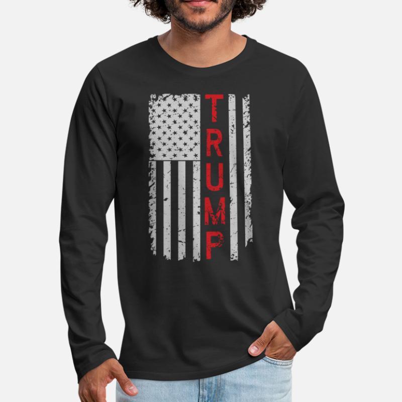 Halloween Election Donald Trump Costume Black Adult Long Sleeve T-Shirt