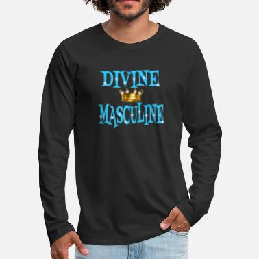 Couple Marriage Spiritual Divine Masculine - Men's Premium Longsleeve Shirt