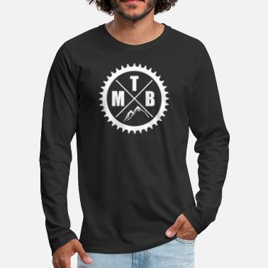 Mountain Bike Mountain Bike MTB Downhill Bicycle Biker Gift Idea - Men's Premium Long Sleeve T-Shirt