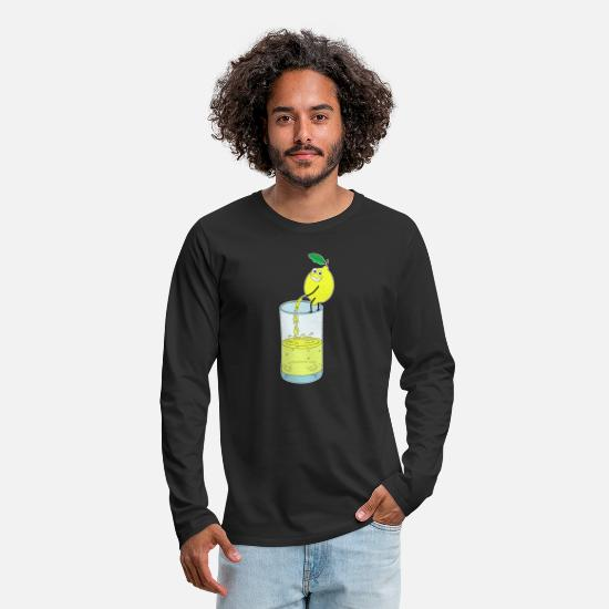 Lemonade Long-Sleeve Shirts - Lemon Lemonade Pee Funny Shirt - Men's Premium Longsleeve Shirt black