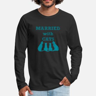 Marry Married with Cats - Men's Premium Longsleeve Shirt