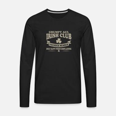 3bc0acc006ca5 Grumpy Old Irish Club Founder Member Onl Unisex Baseball T-Shirt ...