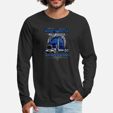 BlueWork Smarter Not Harder  HD Trucker Wear - Men's Premium Long Sleeve T-Shirt