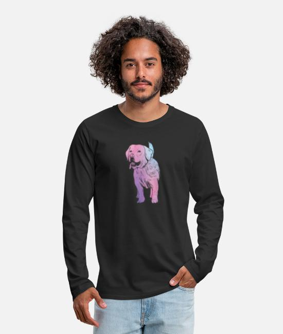 Galaxy Long-Sleeved Shirts - Galaxy Dog - Gift Idea - Men's Premium Longsleeve Shirt black