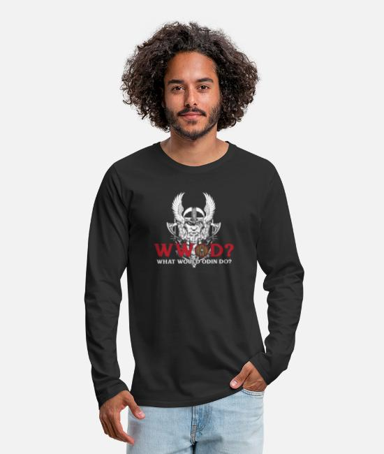 Thor Long-Sleeved Shirts - What would Odin do? Giftidea - Men's Premium Longsleeve Shirt black