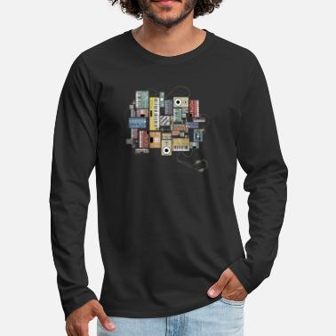 Electronic Musician Synth and Drum machine electronic musician and Dj - Men's Premium Longsleeve Shirt