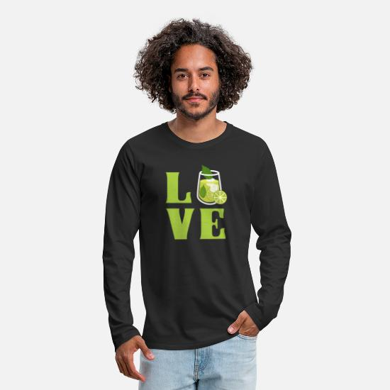 Lime Long-Sleeve Shirts - LOVE Mojito - Men's Premium Longsleeve Shirt black