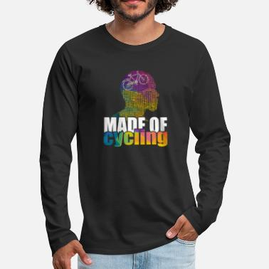 Artistic Made Of Cycling Artwork - Men's Premium Longsleeve Shirt