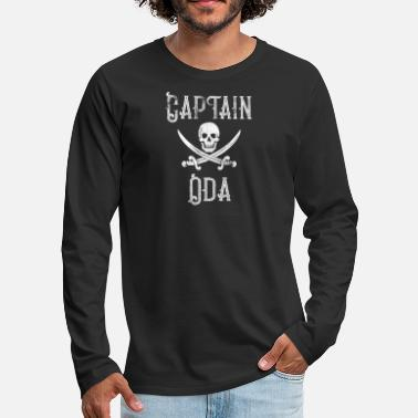 Oda Personalized Captain Oda Shirt Vintage Pirates Shirt Personal Name Pirate TShirt - Men's Premium Long Sleeve T-Shirt