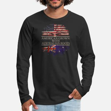 American American grown with Australian Roots - Men's Premium Longsleeve Shirt