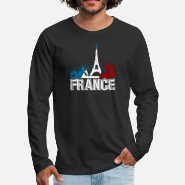 Paris French Paris France Gift Christmas Birthday - Men's Premium Long Sleeve T-Shirt