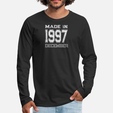 1997 Birthday Celebration Made In December 1997 Birth Year - Men's Premium Long Sleeve T-Shirt