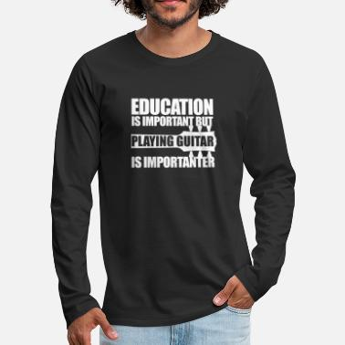 Education Guitar_wt - Men's Premium Longsleeve Shirt