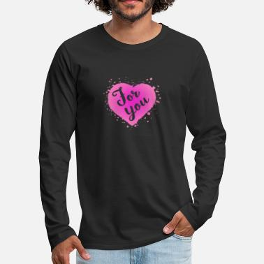 Young For you and abstract heart shape - Men's Premium Longsleeve Shirt