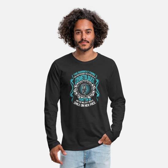 Silly Long-Sleeve Shirts - The Dumbest Thing You Can Possibly Do is Piss Off - Men's Premium Longsleeve Shirt black