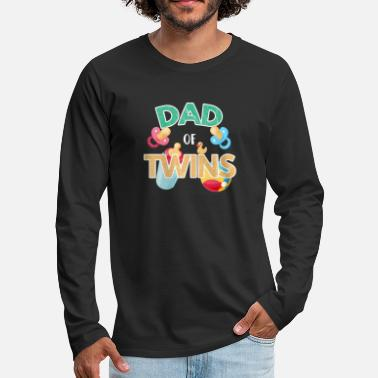 Parents Twins T-shirt Gift - Men's Premium Longsleeve Shirt