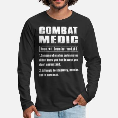 Medic Combat Medic Noun - Men's Premium Long Sleeve T-Shirt