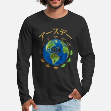 Writing Earth Day Love in Japanese 2019 Mother - Men's Premium Longsleeve Shirt