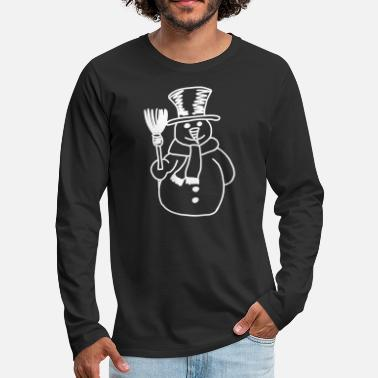 Snowman Drawing - Men's Premium Longsleeve Shirt