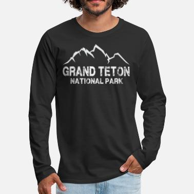 National Park Grand Teton National Park T Shirt - Men's Premium Longsleeve Shirt