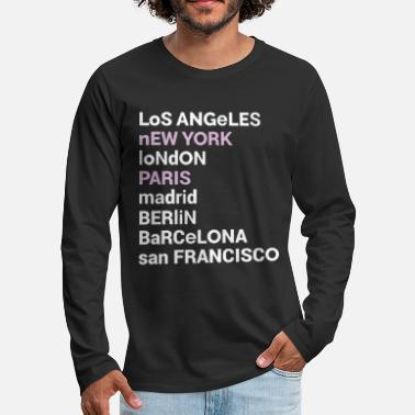 Love City Love Sweatshirt | Los Angeles New York London - Men's Premium Longsleeve Shirt